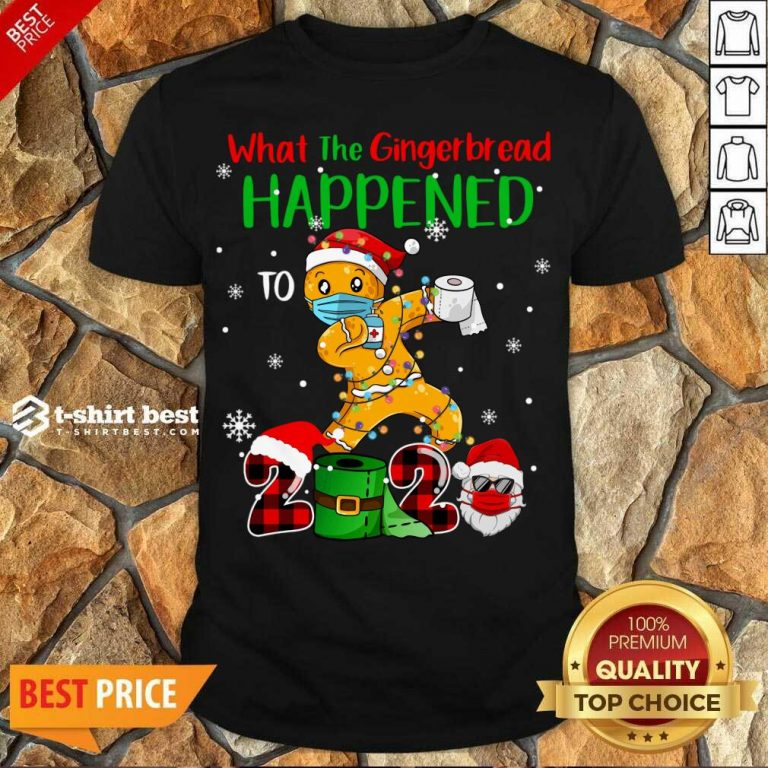 Perfect What The Gingerbread Happened To 2020 Gingerbread Face Mask Shirt - Design By 1tees.com