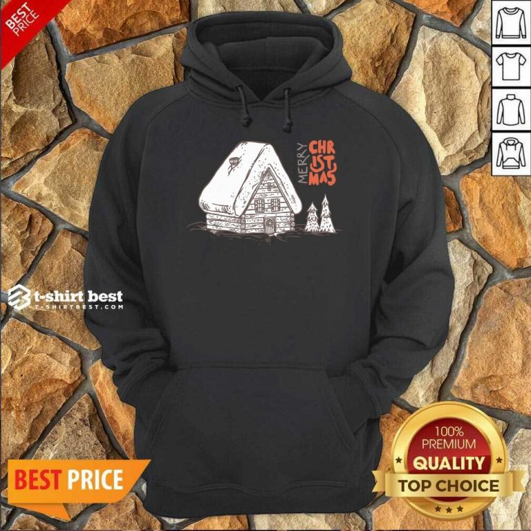 Winter Vacation Home Wooden House Merry Christmas Time Hoodie - Design By 1tees.com