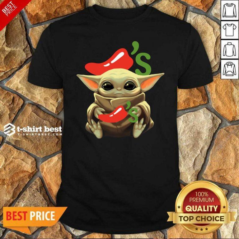 Premium Baby Yoda Hug Chilis 2020 Shirt - Design By 1tees.com