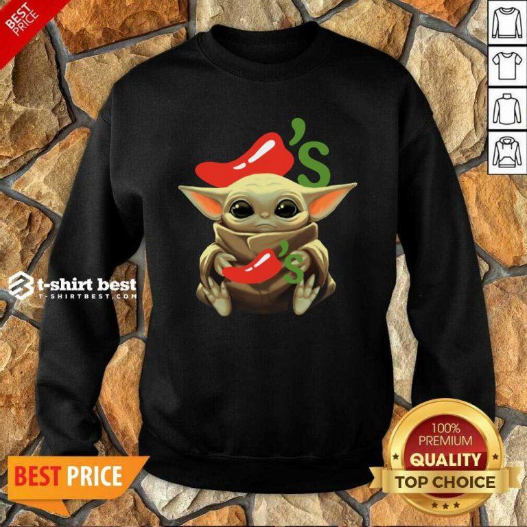 Baby Yoda Hug Chilis 2020 Sweatshirt - Design By 1tees.com