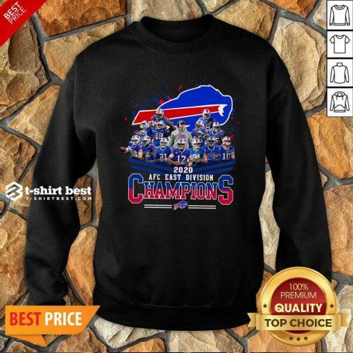 Buffalo Bills 2020 AFC East Division Champions Sweatshirt - Design By 1tees.com