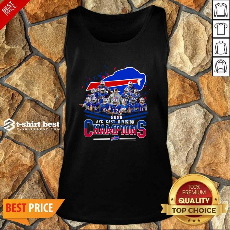 Buffalo Bills 2020 AFC East Division Champions Tank Top - Design By 1tees.com