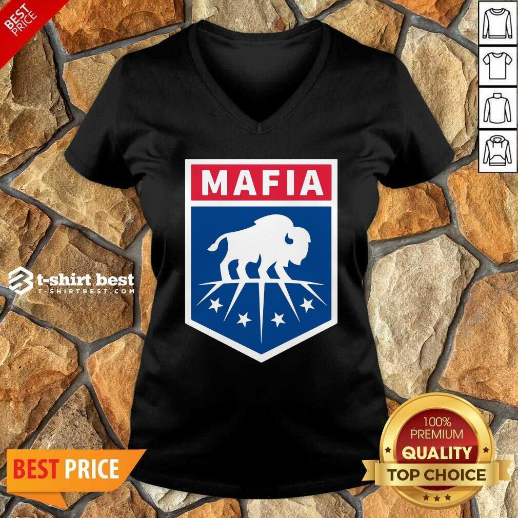 Buffalo Bills Mafia Logo V-neck - Design By 1tees.com