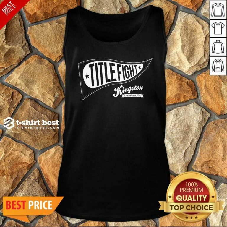 Cold Cuts Merch Title Fight Flag Tank Top - Design By 1tees.com