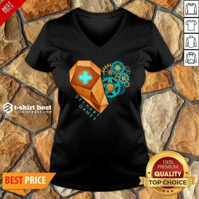 Dechart Games V-neck - Design By 1tees.com