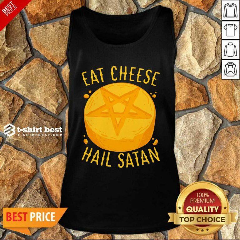 Eat Cheese Hail Satan Tank Top - Design By 1tees.com