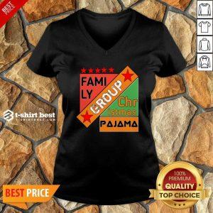 Family Group Christmas Pajama V-neck - Design By 1tees.com