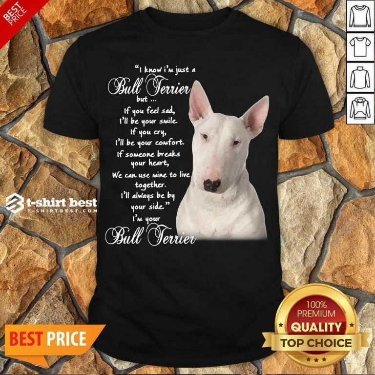 Premium I Know I'm Just A Bull Terrier But If You Feel Sad Shirt - Design By 1tees.com
