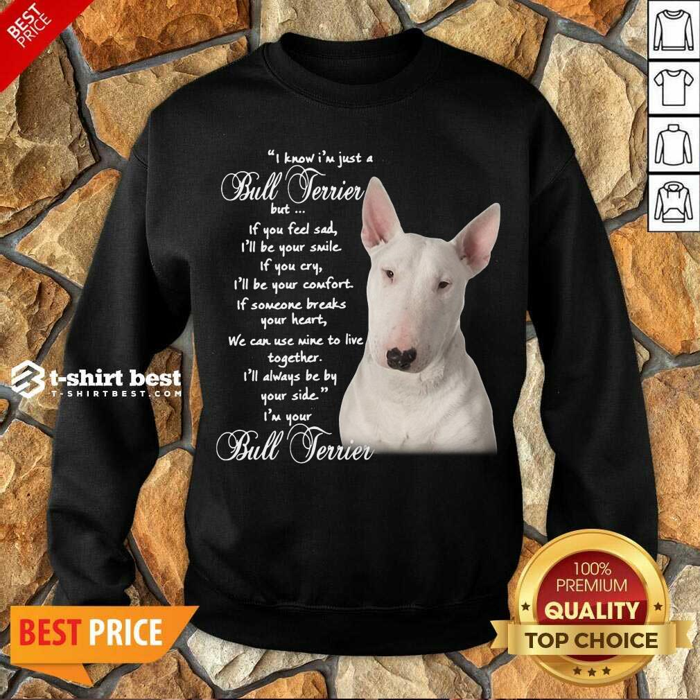 I Know I'm Just A Bull Terrier But If You Feel Sad Sweatshirt - Design By 1tees.com