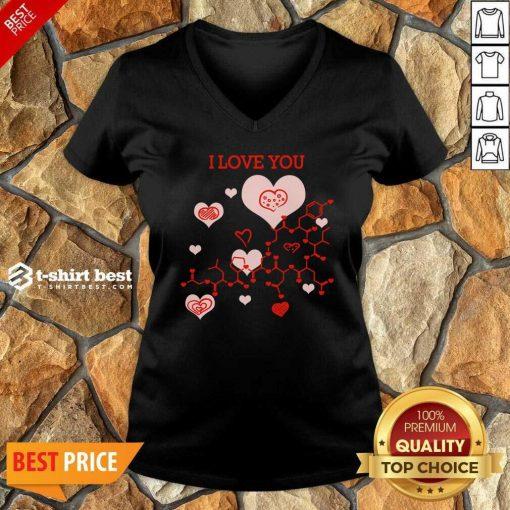 I Love You Oxytocin Hormone V-neck - Design By 1tees.com