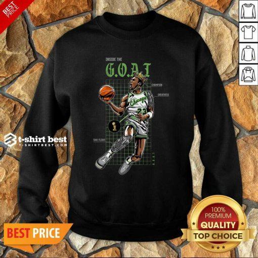 Jordan 11 Bred Inside The Goat Sweatshirt - Design By 1tees.com