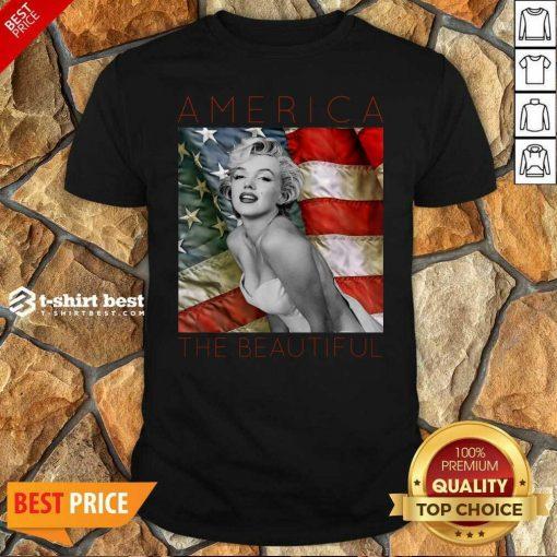 Premium Marilyn Monroe America The Beautiful Shirt - Design By 1tees.com