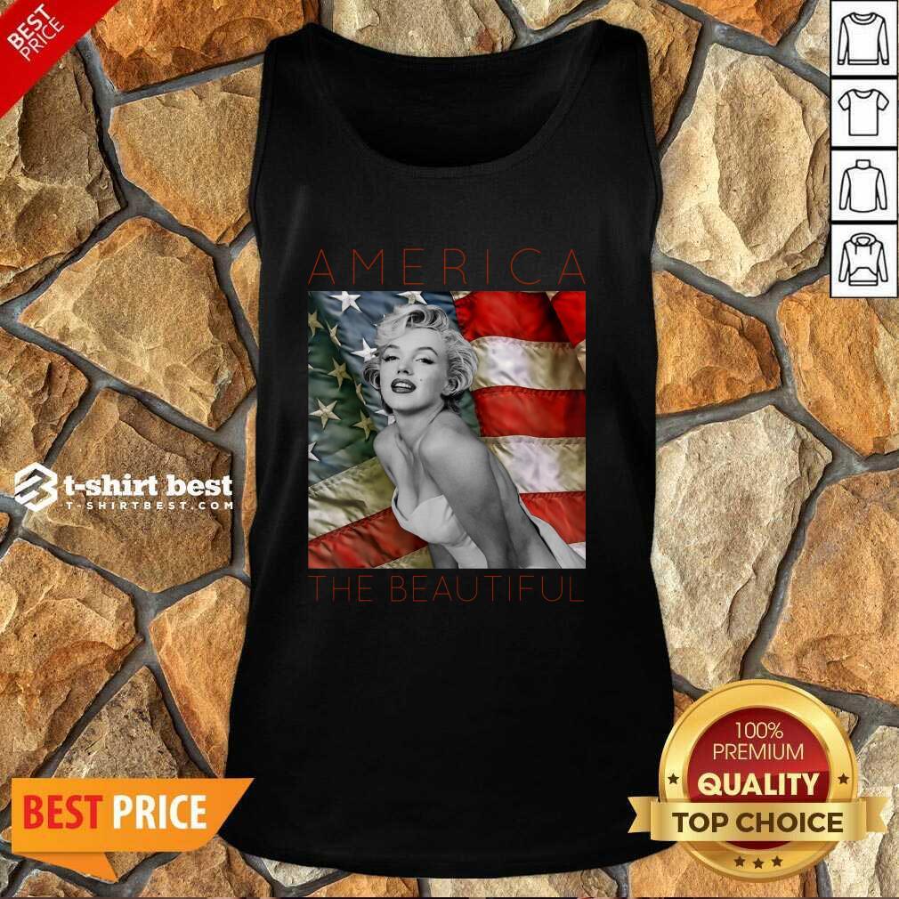 Marilyn Monroe America The Beautiful Tank Top - Design By 1tees.com