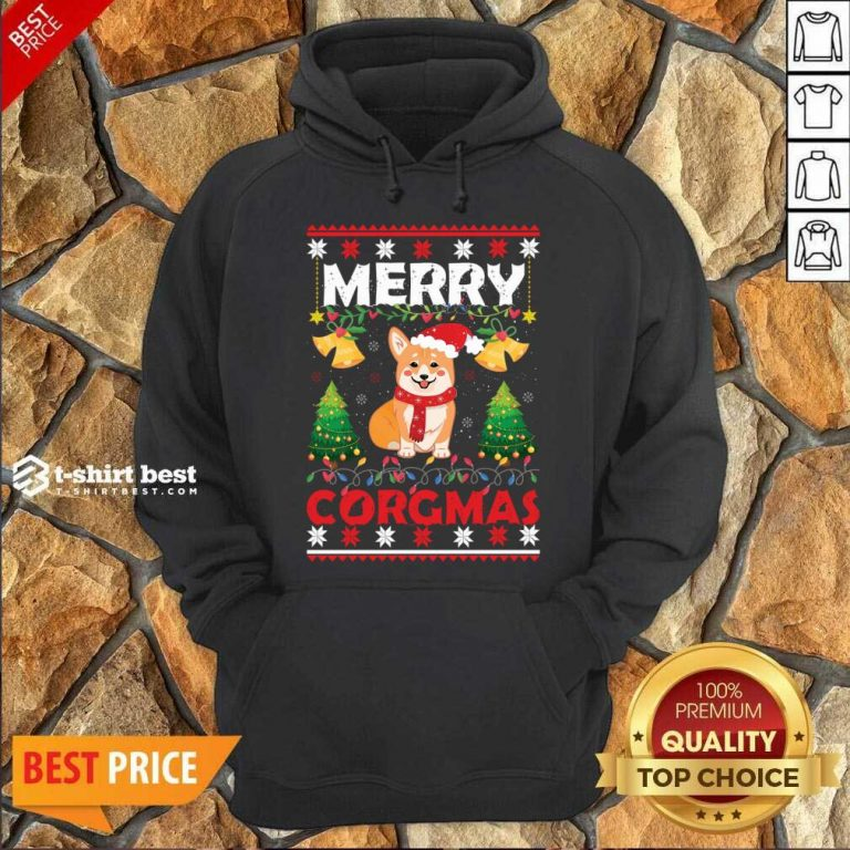 Merry Corgmas For Christmas Season Hoodie - Design By 1tees.com