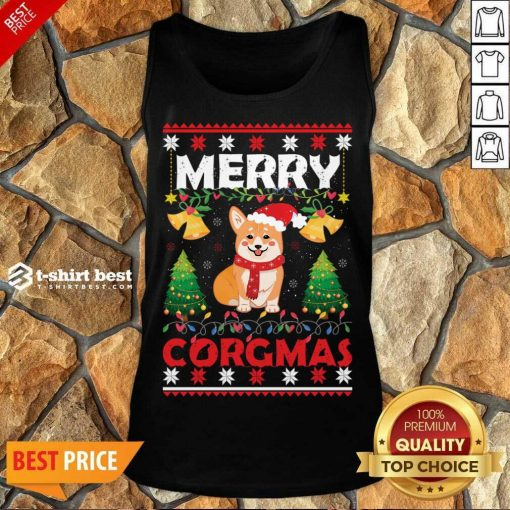 Merry Corgmas For Christmas Season Tank Top - Design By 1tees.com