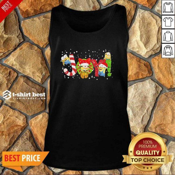 Minions Joy Christmas Tank Top - Design By 1tees.com