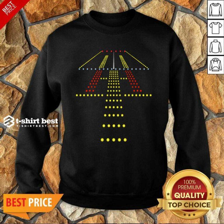 New Runway Light Ugly Christmas Sweatshirt - Design By 1tees.com