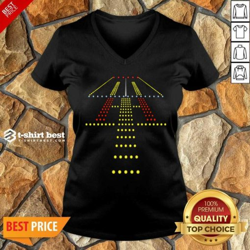 New Runway Li ght Ugly Christmas V-neck Design By 1tees.com