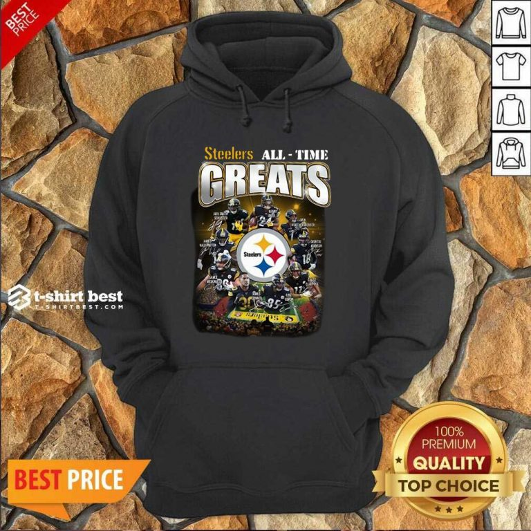 Pittsburgh Steelers All Time Greats Signatures Hoodie - Design By 1tees.com
