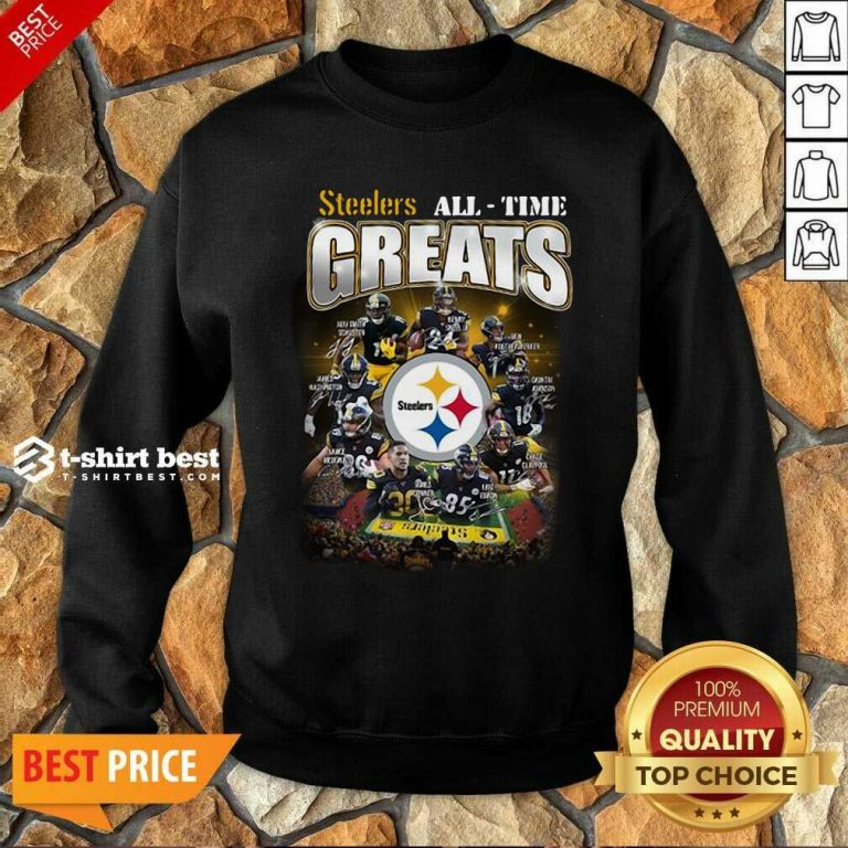 Pittsburgh Steelers All Time Greats Signatures Sweatshirt - Design By 1tees.com
