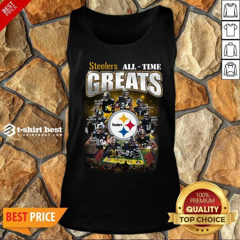 Pittsburgh Steelers All Time Greats Signatures Tank Top - Design By 1tees.com
