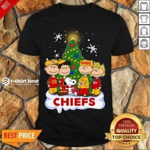 Premium Snoopy The Peanuts Kansas City Chiefs Christmas Shirt - Design By 1tees.com