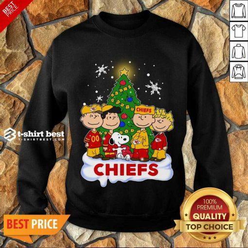 Snoopy The Peanuts Kansas City Chiefs Christmas Sweatshirt - Design By 1tees.com
