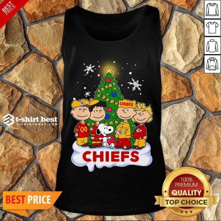 Premium Snoopy The Peanuts Kansas City Chiefs Christmas Tank Top - Design By 1tees.com