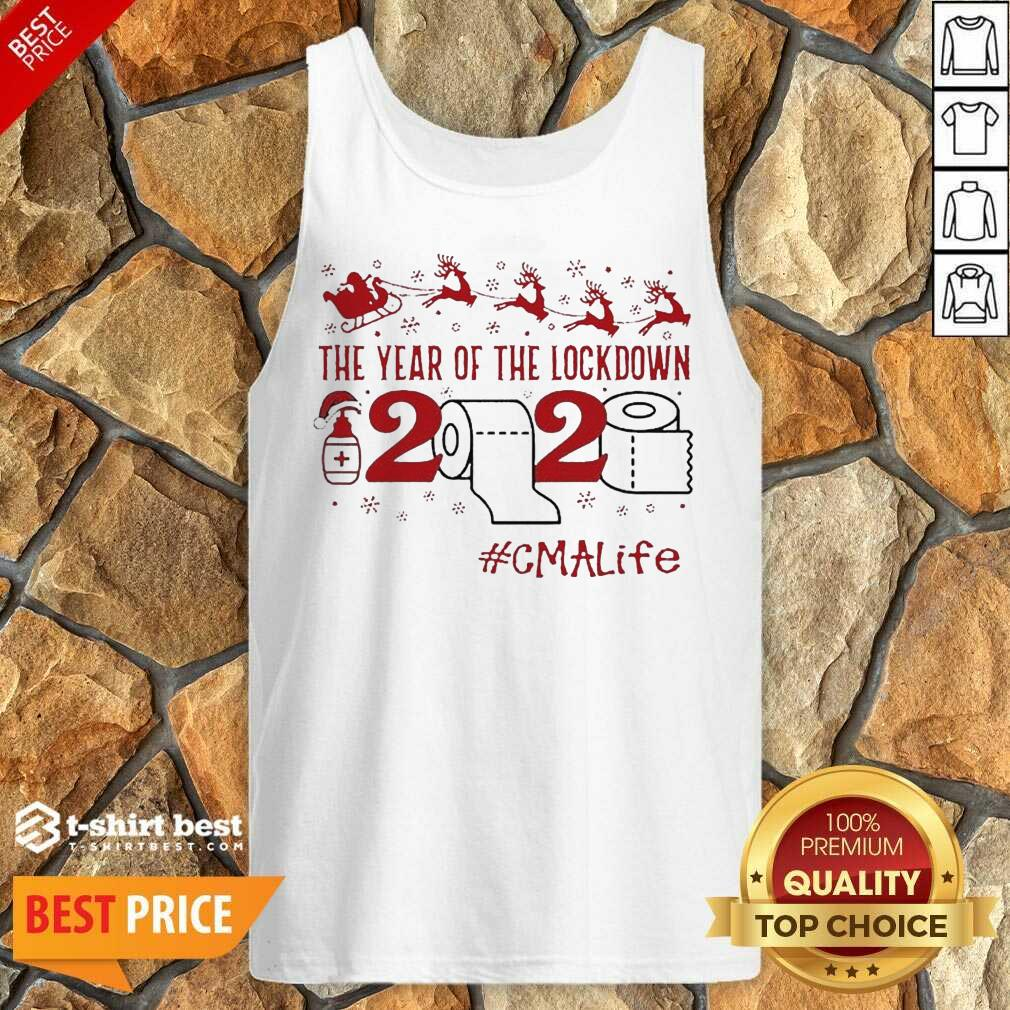 The Year Of The Lockdown 2020 #Cmalife Christmas Tank Top - Design By 1tees.com