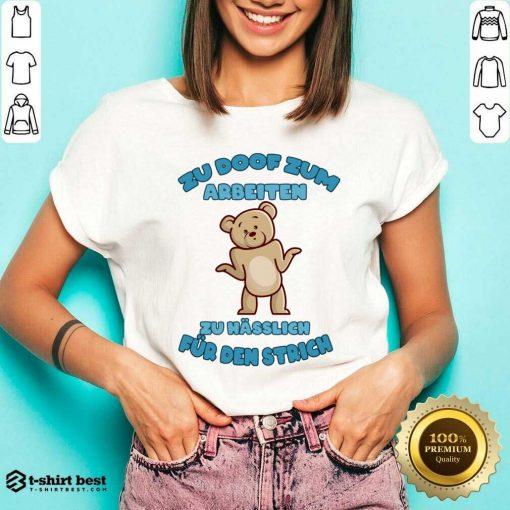 Working Doof Life Motto Pessimist Statement Funny V-neck - Design By 1tees.com