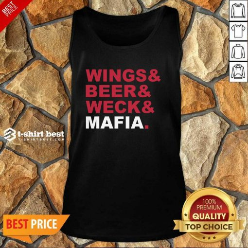 Buffalo Bills Wings And Beer And Weck And Mafia Tank Top - Design By 1tees.com