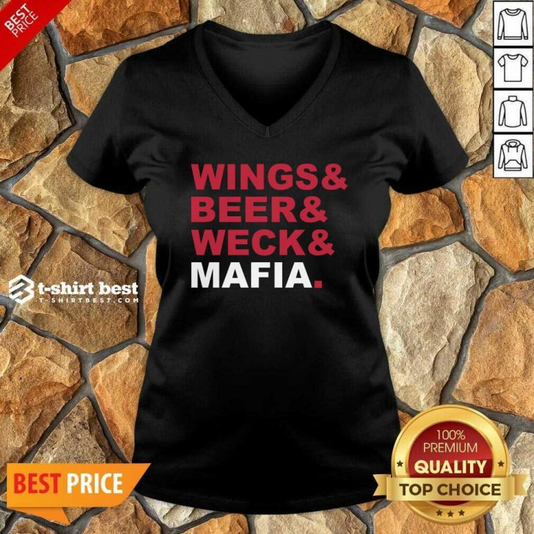 Buffalo Bills Wings And Beer And Weck And Mafia V-neck - Design By 1tees.com