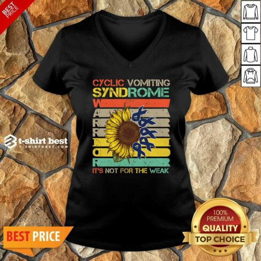 Cyclic Vomiting Syndrome Warrior It Is Not For The Weak Sunflower V-neck - Design By 1tees.com