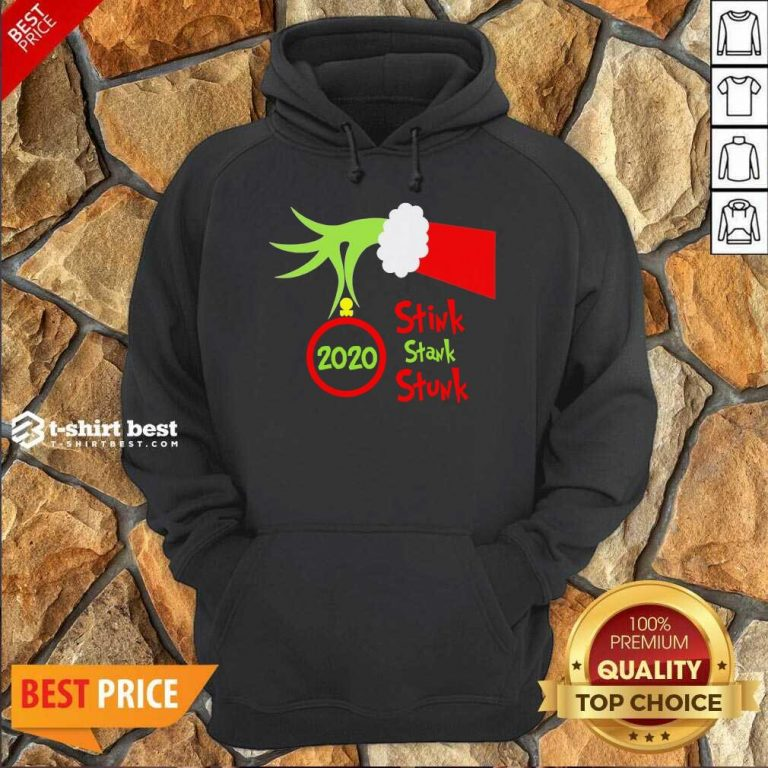 Grinch Hand Holding Ornament 2020 Stink Stank Stunk Merry Christmas Hoodie - Design By 1tees.com