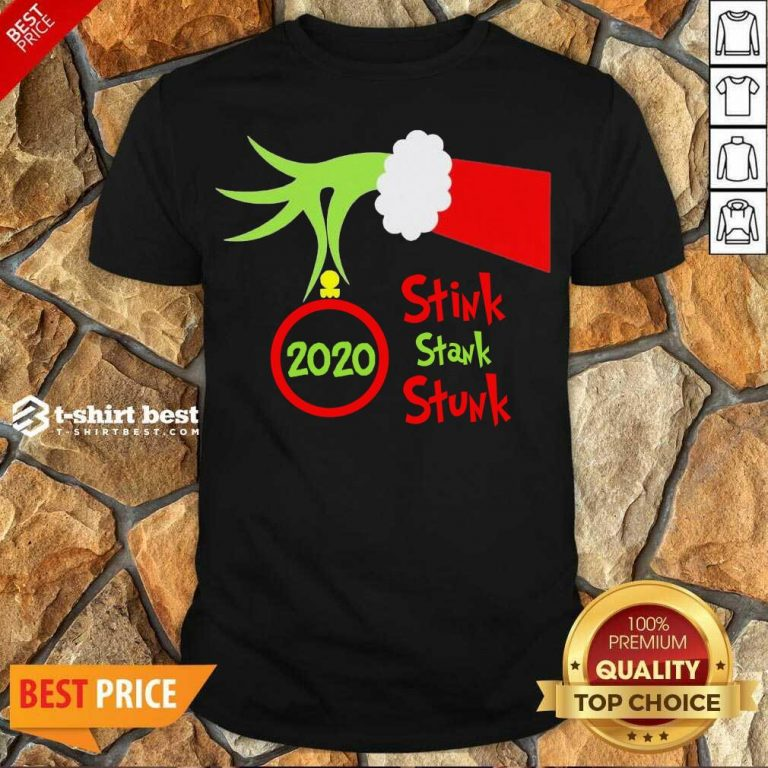Pretty Grinch Hand Holding Ornament 2020 Stink Stank Stunk Merry Christmas Shirt - Design By 1tees.com