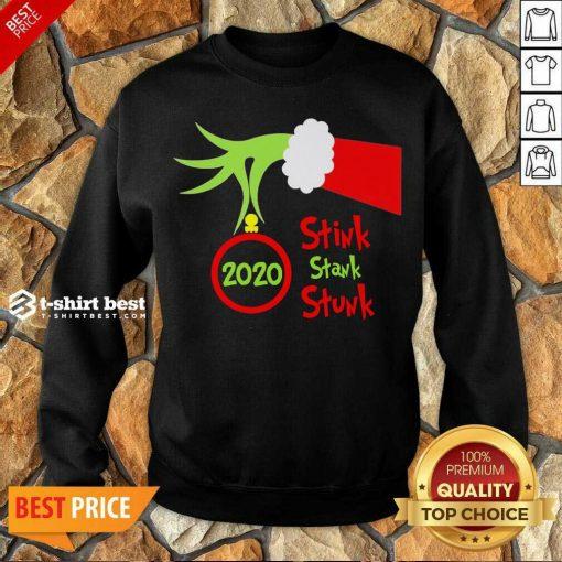 Grinch Hand Holding Ornament 2020 Stink Stank Stunk Merry Christmas Sweatshirt - Design By 1tees.com