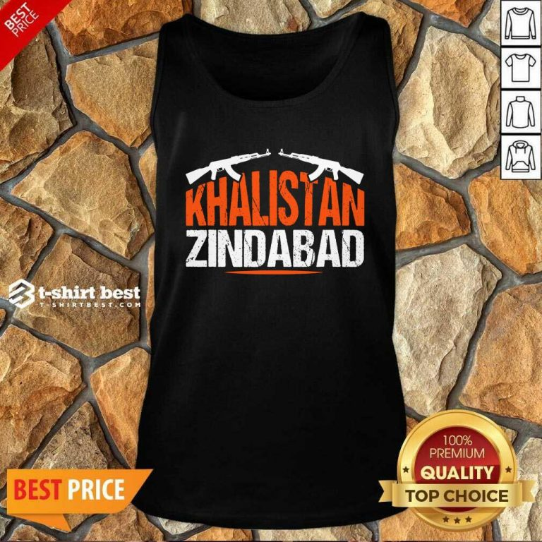 Sikh Khalistan Zindabad Singh Punjabi Tank Top - Design By 1tees.com