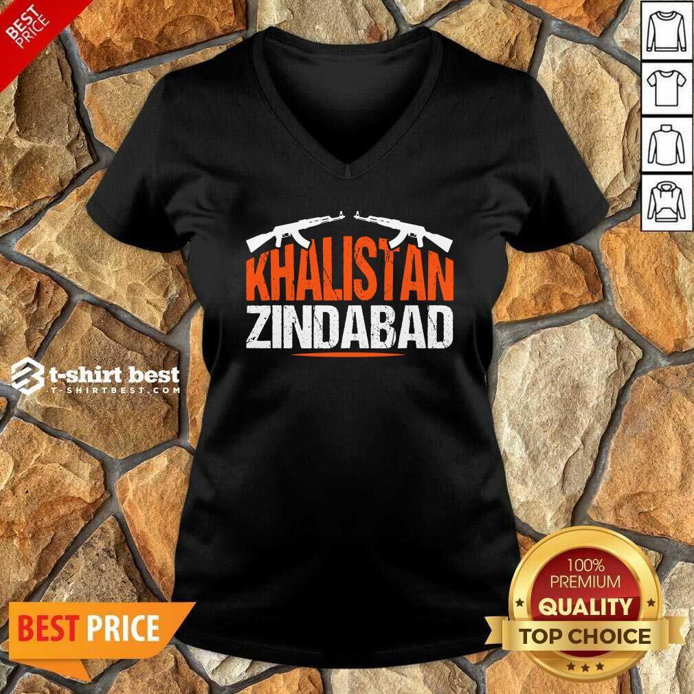 Sikh Khalistan Zindabad Singh Punjabi V-neck - Design By 1tees.com