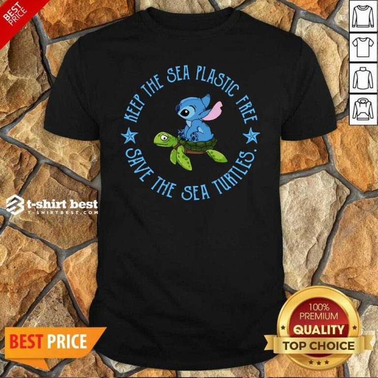 Stitch On The Turtle Keep The Sea Plastic Free Save The Sea Turtles Shirt - Design By 1tees.com