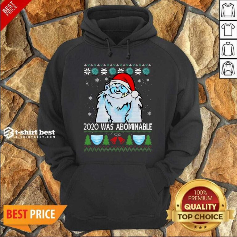 2020 Was Abominable Ugly Merry Christmas Hoodie - Design By 1tees.com