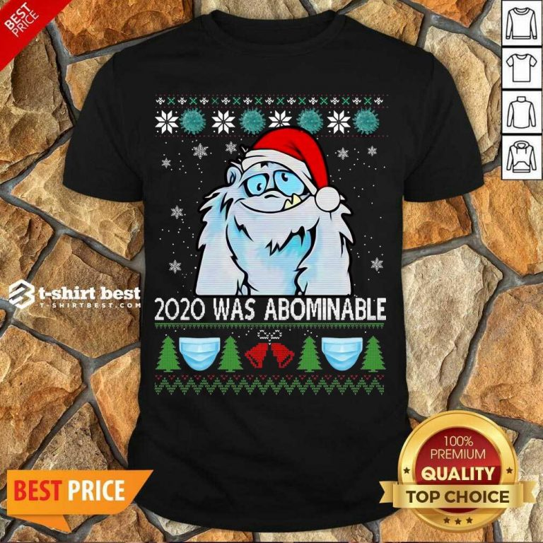 Top 2020 Was Abominable Ugly Merry Christmas Shirt - Design By 1tees.com