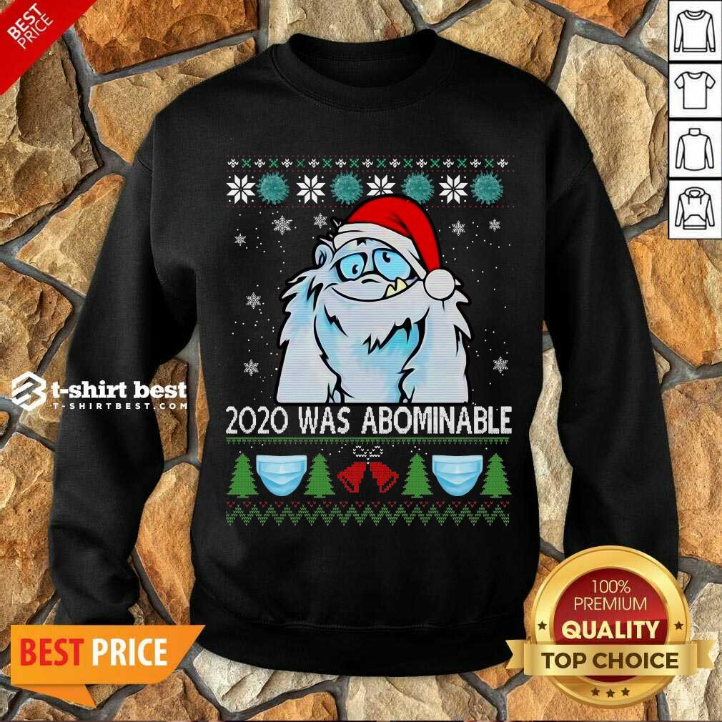 2020 Was Abominable Ugly Merry Christmas Sweatshirt - Design By 1tees.com