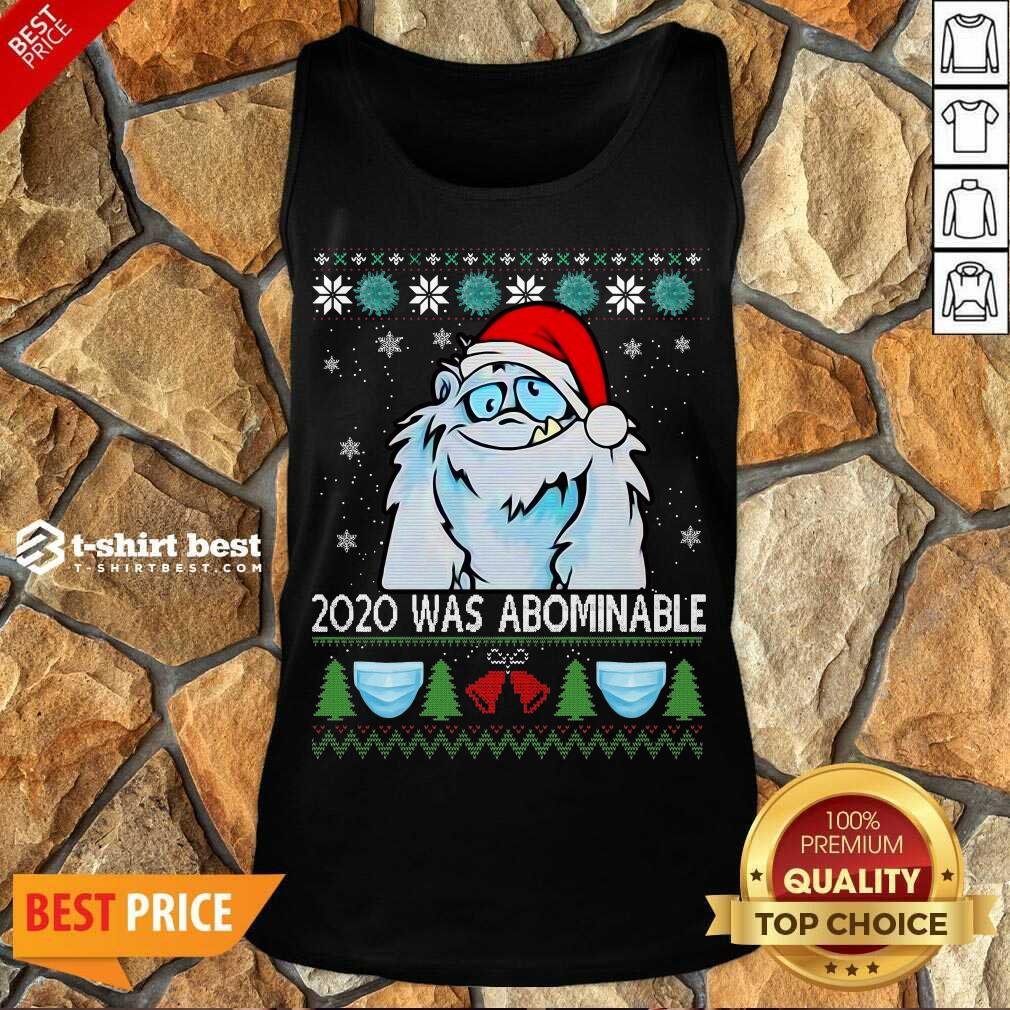2020 Was Abominable Ugly Merry Christmas Tank Top - Design By 1tees.com