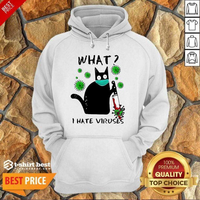 Back Cat Kill Corona What I Hate Viruses Hoodie - Design By 1tees.com
