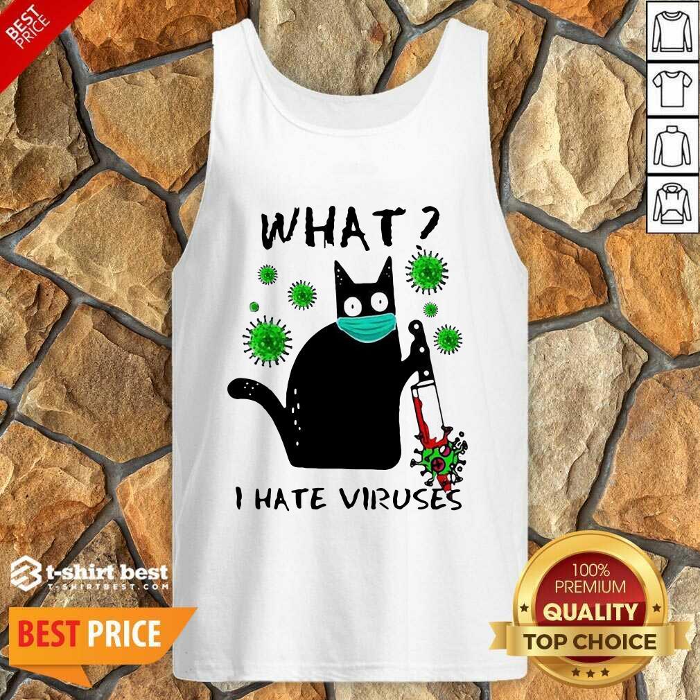Back Cat Kill Corona What I Hate Viruses Tank Top - Design By 1tees.com