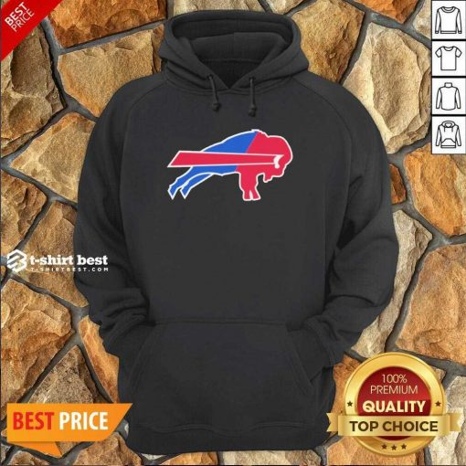 Buffalo Bills Merged Logo Hoodie - Design By 1tees.com