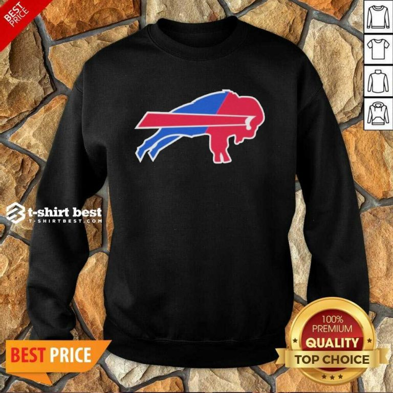 Buffalo Bills Merged Logo Sweatshirt - Design By 1tees.com