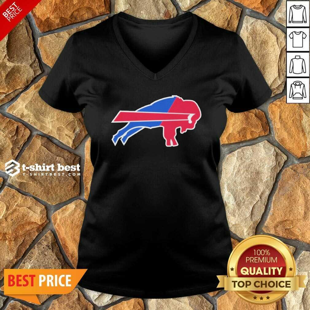 Buffalo Bills Merged Logo V-neck - Design By 1tees.com