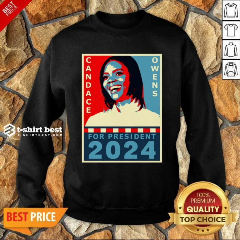 Candace Owens For President 2024 Sweatshirt - Design By 1tees.com