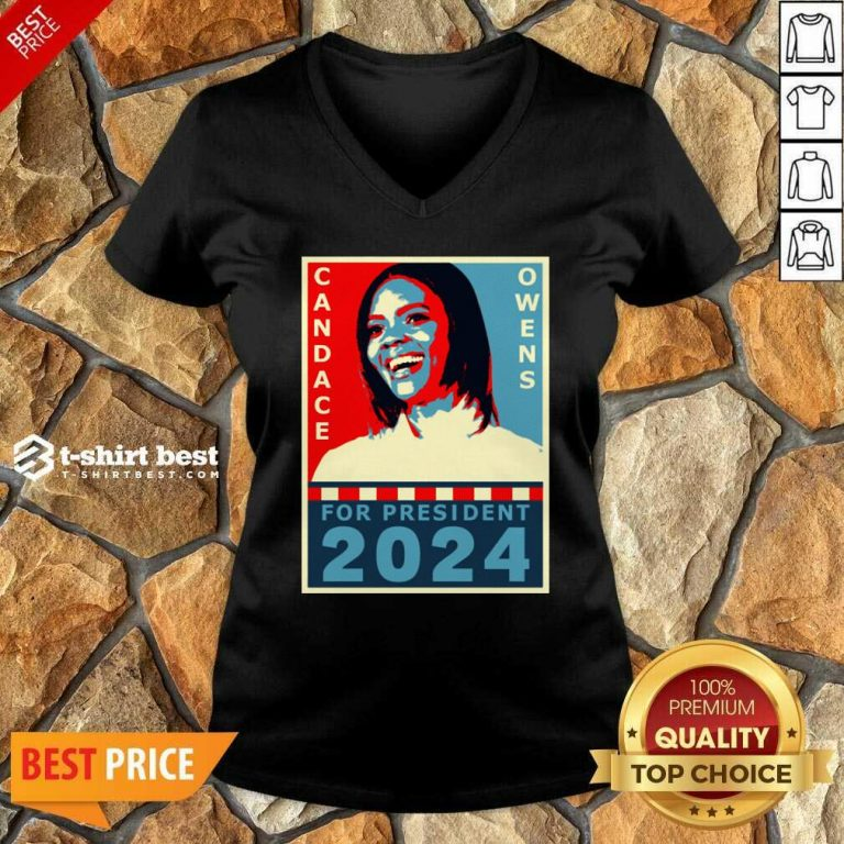 Candace Owens For President 2024 V-neck - Design By 1tees.com